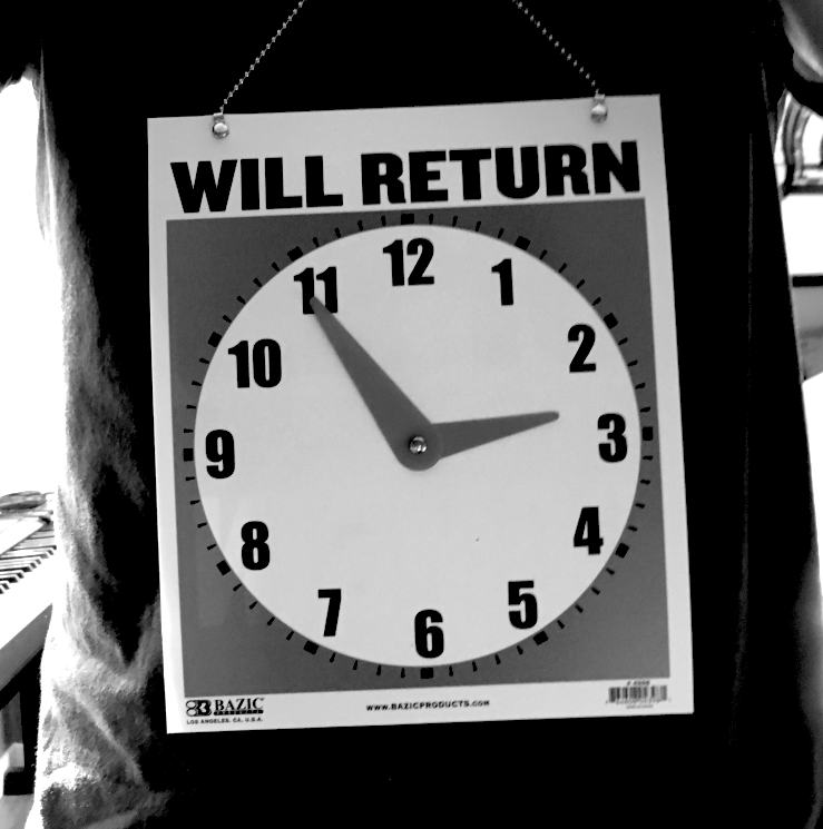 will-return_ around neck b&w